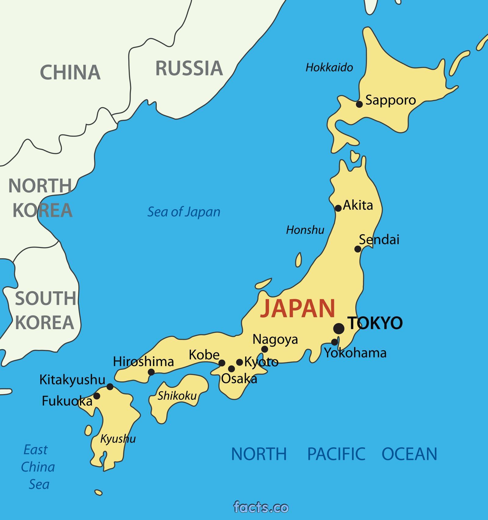 japán térkép Egyszerű japán térkép   Japán egyszerű térkép (Kelet Ázsia   Asia)