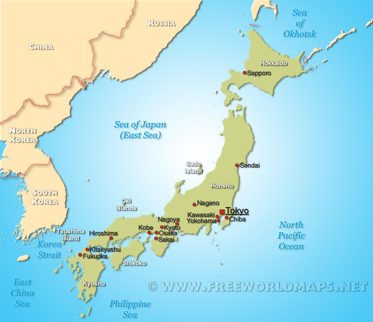 japán térkép Térkép japán   Japán térképen (Kelet Ázsia   Asia)